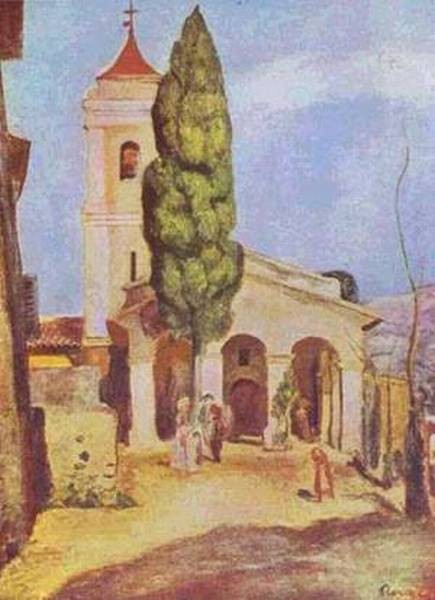 A church at cagnes 1905 xx private collection